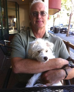 James and his writing partner, Flojo.