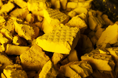 Yellow cake uranium - Courtesy of Energy Fuels Inc.